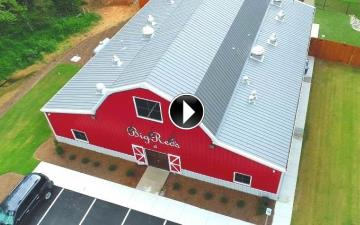 red gambrel barn video