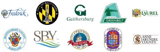 maryland county and city logos