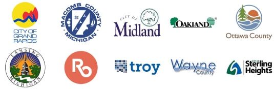 michigan county and city logos