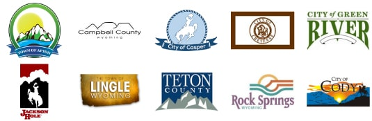 wyoming county and city logos