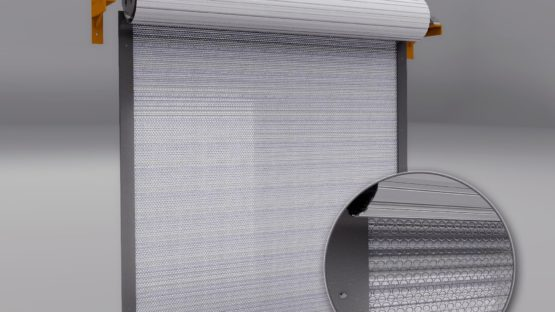 steel building commercial rollup door insulation