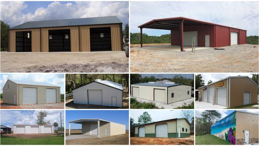 metal garage photo gallery collage